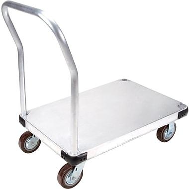 KLETON – Chariot à plateforme en aluminium, roulettes en polyuréthane de 6 po, plateforme lisse