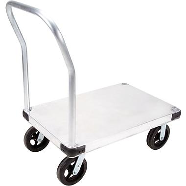 KLETON – Chariot à plateforme en aluminium, roulettes en caoutchouc moulé de 8 po, plateforme lisse