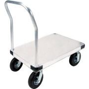 KLETON – Chariot à plateforme en aluminium, roulettes pneumatiques de 8 po, plateforme lisse