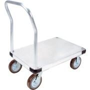 KLETON – Chariot à plateforme en aluminium, roulettes en polyuréthane de 8 po, plateforme lisse
