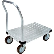 KLETON – Chariot à plateforme en aluminium, roulettes en polyuréthane de 8 po, plateforme à saillie