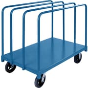 "KLETON Single Level Rails Heavy-Duty Panel Mover Truck, 8"" Mold-on Rubber Casters"
