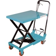 "Kleton Hydraulic Scissor Lift Tables, 330-lb/load, 17-4/5""W. x 27-1/2""L."