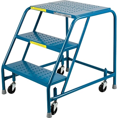 Kleton Rolling Step Ladders, Without Handrails, 3 Steps