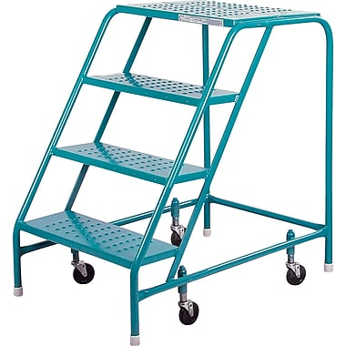 Kleton Rolling Step Ladders, Without Handrails, 4 Steps