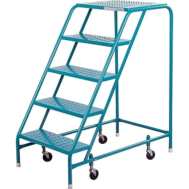 Kleton Rolling Step Ladders, Without Handrails, 5 Steps