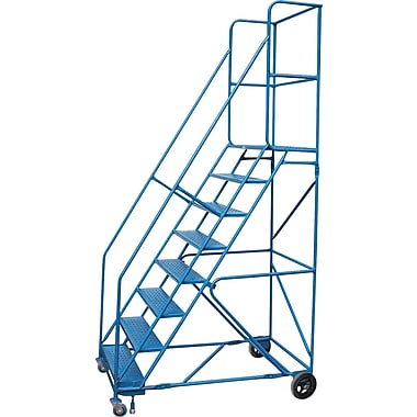 Kleton Rolling Step Ladders, With Locking Step and Handrails, 8 Steps