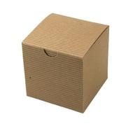 """Shamrock Kraft Paper 4""""H x 4""""W x 4""""L Gift Boxes, Brown, 100/Carton"""