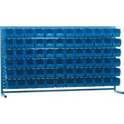 "Kleton Louvered Bench Bin Racks, 72 Bins, 10-7/8""L. x 5-1/2""W. x 5""H."
