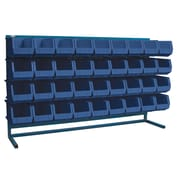 "Kleton Louvered Bench Bin Racks, 36 Bins, 14-3/8""L. x 8-1/4""W. x 7""H."