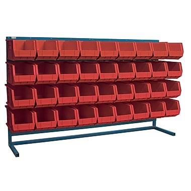 Kleton Louvered Bench Bin Racks, 36 Bins, 14-3/8