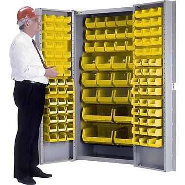 KLETON Deep Door Combination Cabinets, 118 Bins, Yellow
