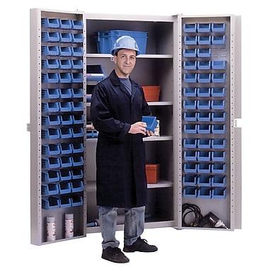 KLETON – Armoires à combinaison à portes creuses, 84 bacs, bleu