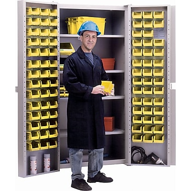 KLETON Deep Door Combination Cabinets, 84 Bins, Yellow