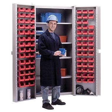 KLETON – Armoires à combinaison à portes creuses, 84 bacs, rouge