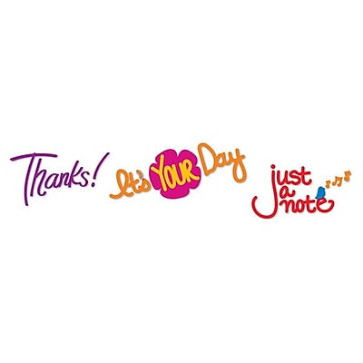Sizzix® Sizzlits Decorative Strip Die, Phrase, Thanks!, It's Your Day & Just a Note