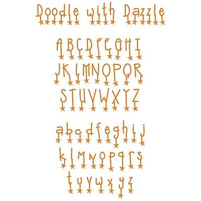 Sizzix® Sizzlits Alphabet Set Dies, Doodle With Dazzle (654818)