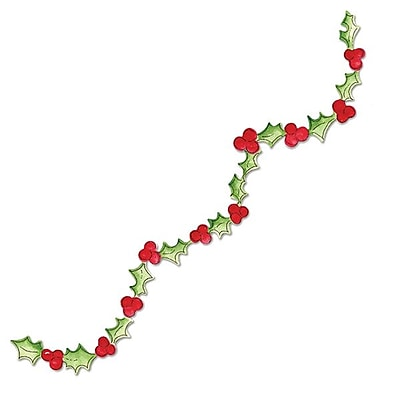 Sizzix® Sizzlits Decorative Strip Die, Garland, Holly With Berries