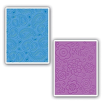 Sizzix® Textured Impressions Embossing Folder, Spring Flowers and Paisley Set