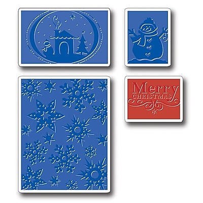 Sizzix® Textured Impressions Embossing Folder, Christmas Set