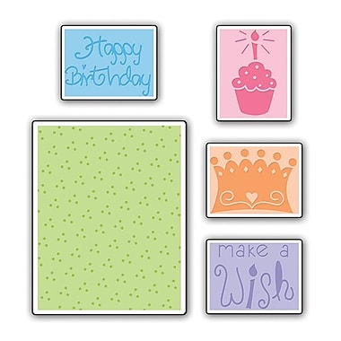 Sizzix® Textured Impressions Embossing Folder, Birthday Set #2