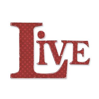 Sizzix® Originals Die, Live Phrase