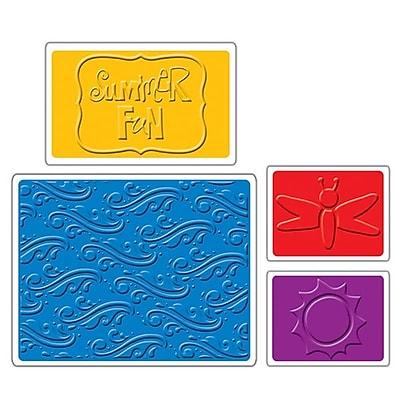 Sizzix Textured Impressions Embossing Folder, Summer Fun Set 224522