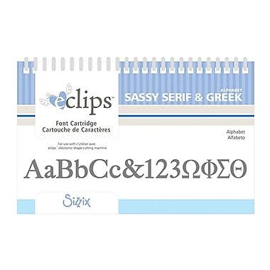 Sizzix® eclips Cartridge, Greek & Sassy Serif Alphabets