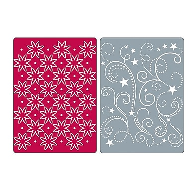 Sizzix® Textured Impressions Embossing Folder, Flowers, Stars and Swirls Set