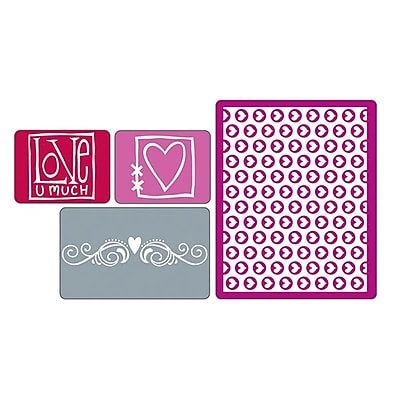 Sizzix Textured Impressions Embossing Folder, Love Set 224494