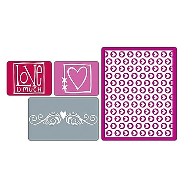 Sizzix® Textured Impressions Embossing Folder, Love Set