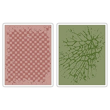Sizzix® Texture Fades Embossing Folder, Checkerboard and Cracked Set