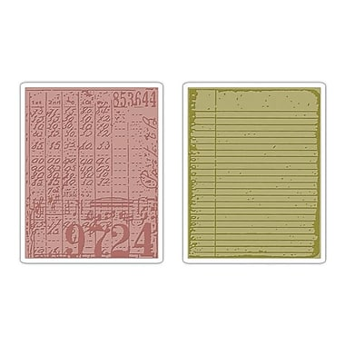 Sizzix® Texture Fades Embossing Folder, Collage and Notebook Set