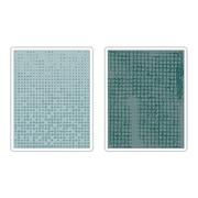 Sizzix® Texture Fades Embossing Folder, Dot-Matrix and Gridlock Set