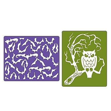 Sizzix® Textured Impressions Embossing Folder, Bats & Owl Set