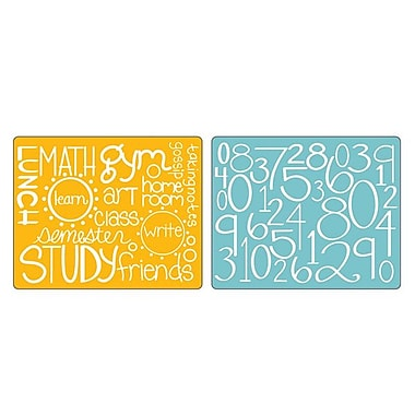 Sizzix® Textured Impressions Embossing Folder, Reading, Writing & Arithmetic Set