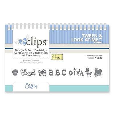 Sizzix eclips Cartridge, Tween & Look at Me Alphabet 224856