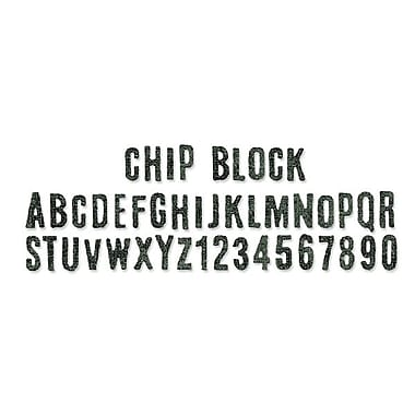 Sizzix® Sizzlits Decorative Strip Alphabet Die, Chip Block