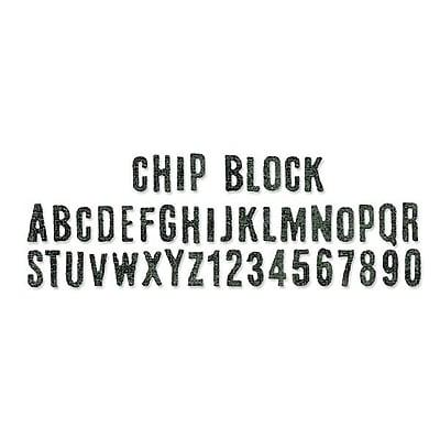 Sizzix® Sizzlits Decorative Strip Alphabet Die, Chip Block