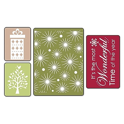 Sizzix Textured Impressions Embossing Folder, Starry Night Set 224442