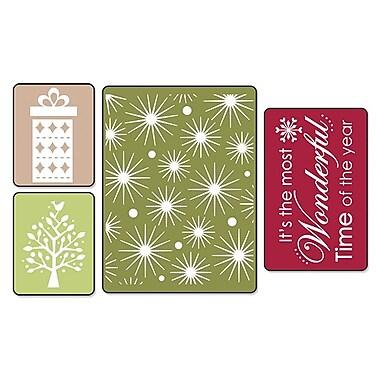 Sizzix® Textured Impressions Embossing Folder, Starry Night Set