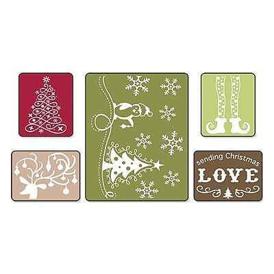 Sizzix® Textured Impressions Embossing Folder, Sending Christmas Love Set