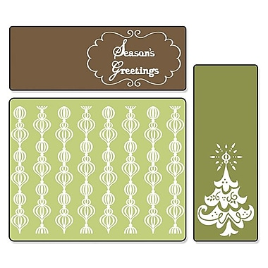 Sizzix® Textured Impressions Embossing Folder, Season's Greetings Set