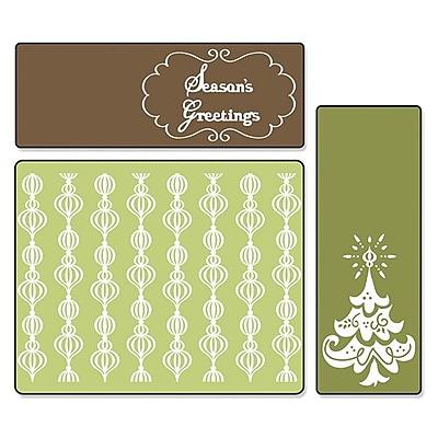 Sizzix® Textured Impressions Embossing Folder, Season's Greetings Set