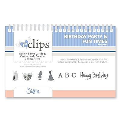 Sizzix® eclips Cartridge, Birthday Party & Fun Times Alphabet