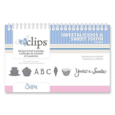 Sizzix® eclips Cartridge, Sweetalicious & Sweet Tooth Alphabet