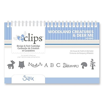 Sizzix eclips Cartridge, Woodland Creatures & Deer Me Alphabet 224851