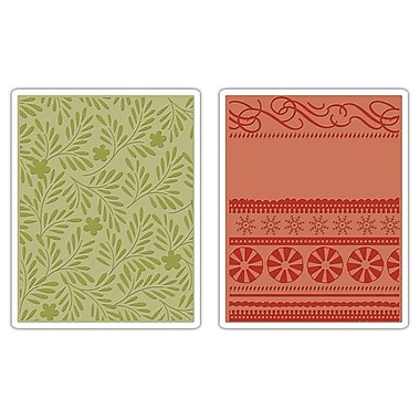 Sizzix® Textured Impressions Embossing Folder, Branches, Swirls & Ribbons Set