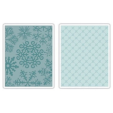 Sizzix® Textured Impressions Embossing Folder, Flower & Snowflakes Set