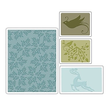 Sizzix® Textured Impressions Embossing Folder, Birds and Reindeer Set